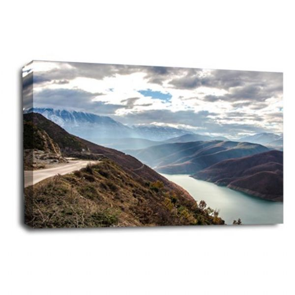 Landscape Mountains Canvas Art Calm Forest Wall Picture Print